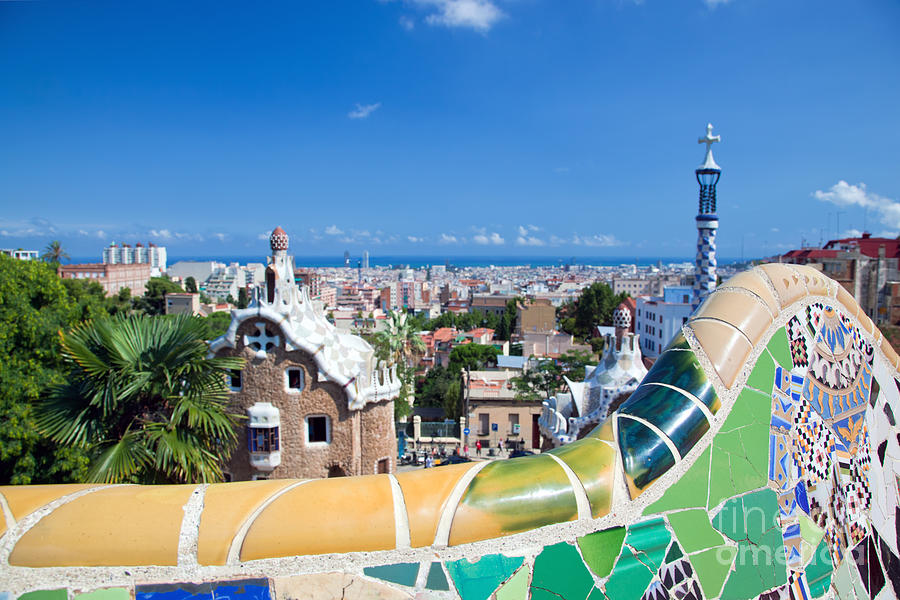 Park Guell In Barcelona Photograph