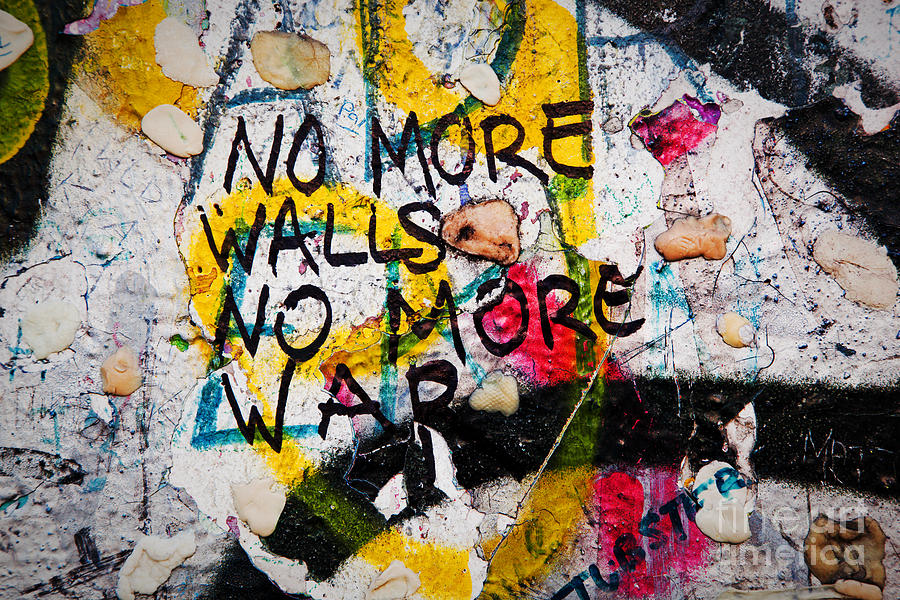 part of berlin wall with graffiti and chewing gums photograph by michal bednarek. Black Bedroom Furniture Sets. Home Design Ideas