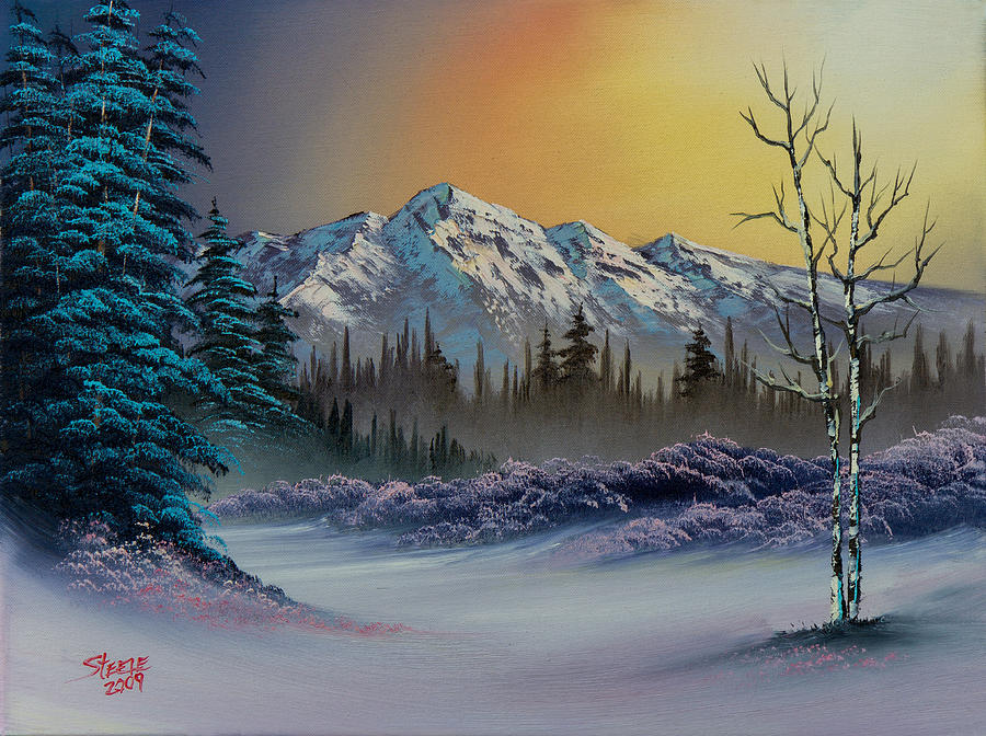 Pastel Winter Painting