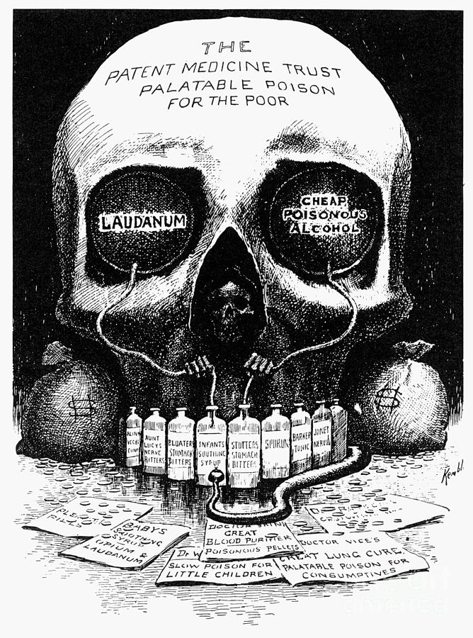 1906 Photograph - Patent Medicine Cartoon by Granger