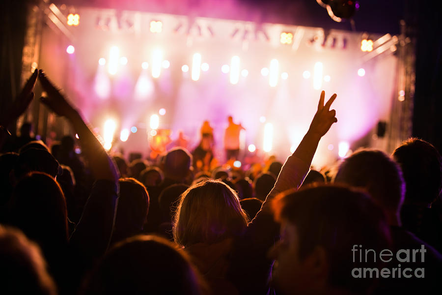 People On Music Concert Photograph  - People On Music Concert Fine Art Print