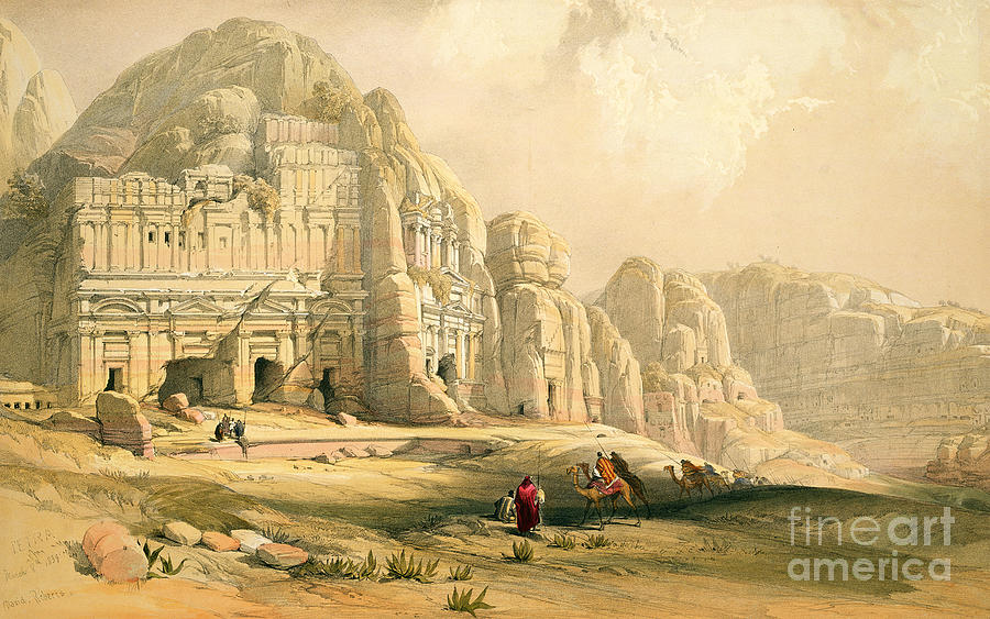 Landscape Painting - Petra by David Roberts