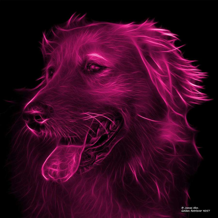 Pink Golden Retriever - 4047 Fs Digital Art