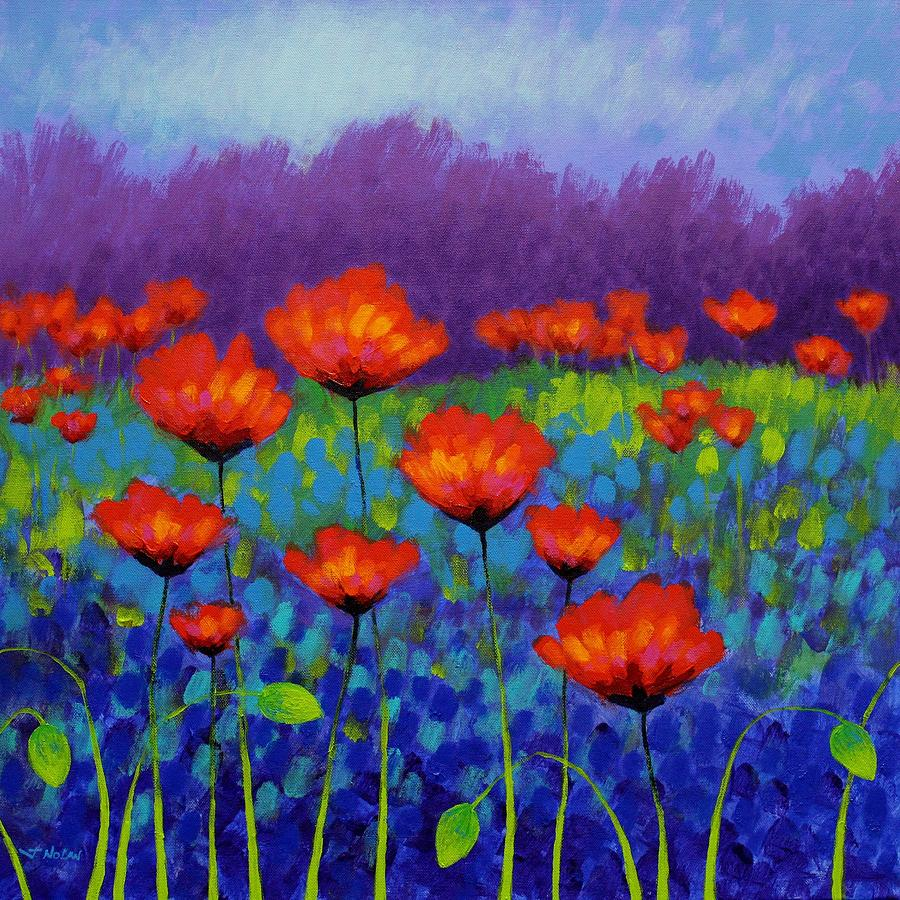 Poppy Meadow Painting