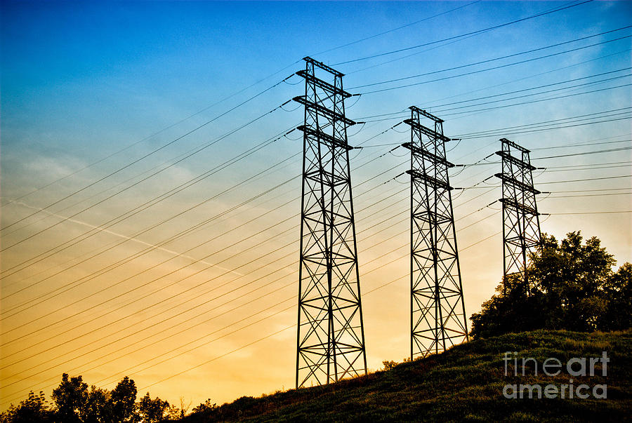 Electrical Photograph - Power Lines by Amy Cicconi
