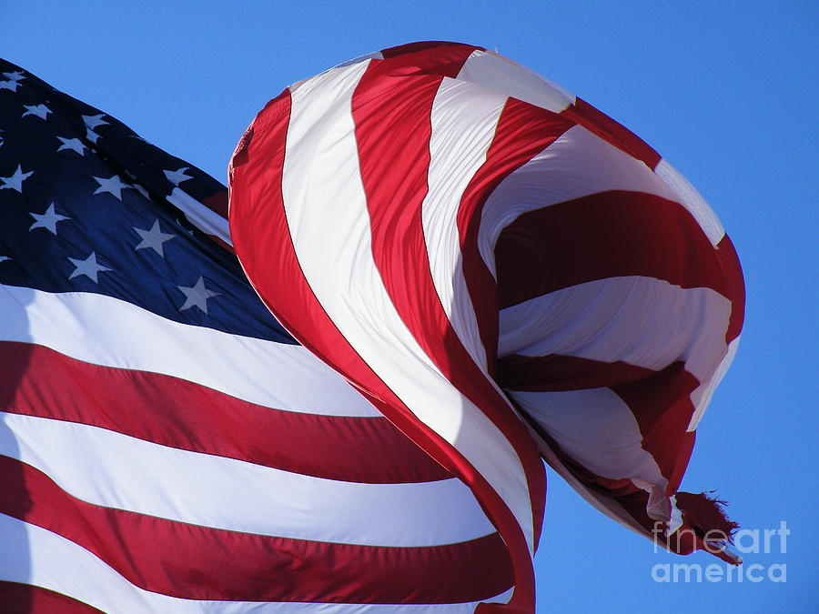 Flag Photograph - Power Punch by Joe Jake Pratt