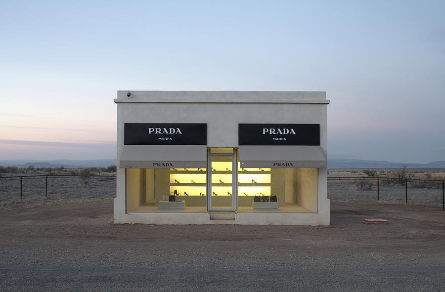 prada marfa photograph by greg larson. Black Bedroom Furniture Sets. Home Design Ideas