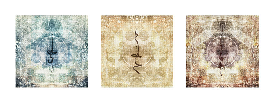 Prayer Flag Triptych Photograph  - Prayer Flag Triptych Fine Art Print