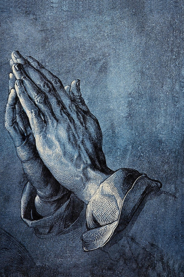 Praying Hands Digital Art