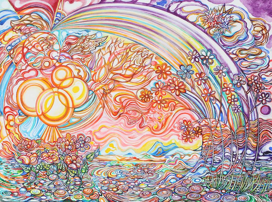 Spring Painting - Primavera by Susan Schiffer