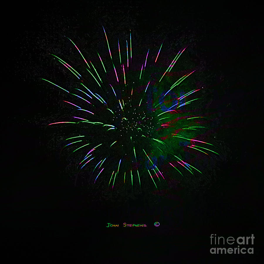Psychedelic Fireworks Photograph