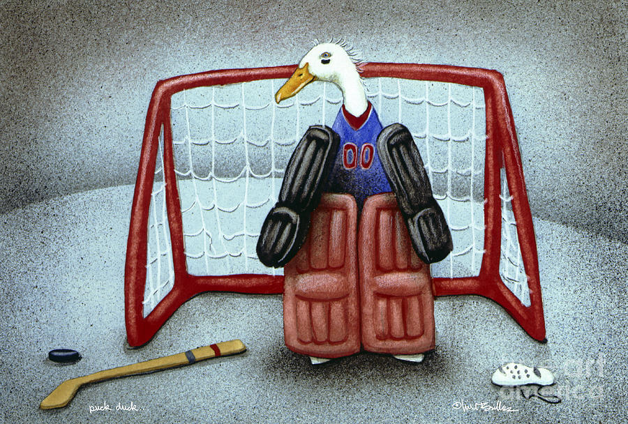 puck duck... by Will Bullas Painting