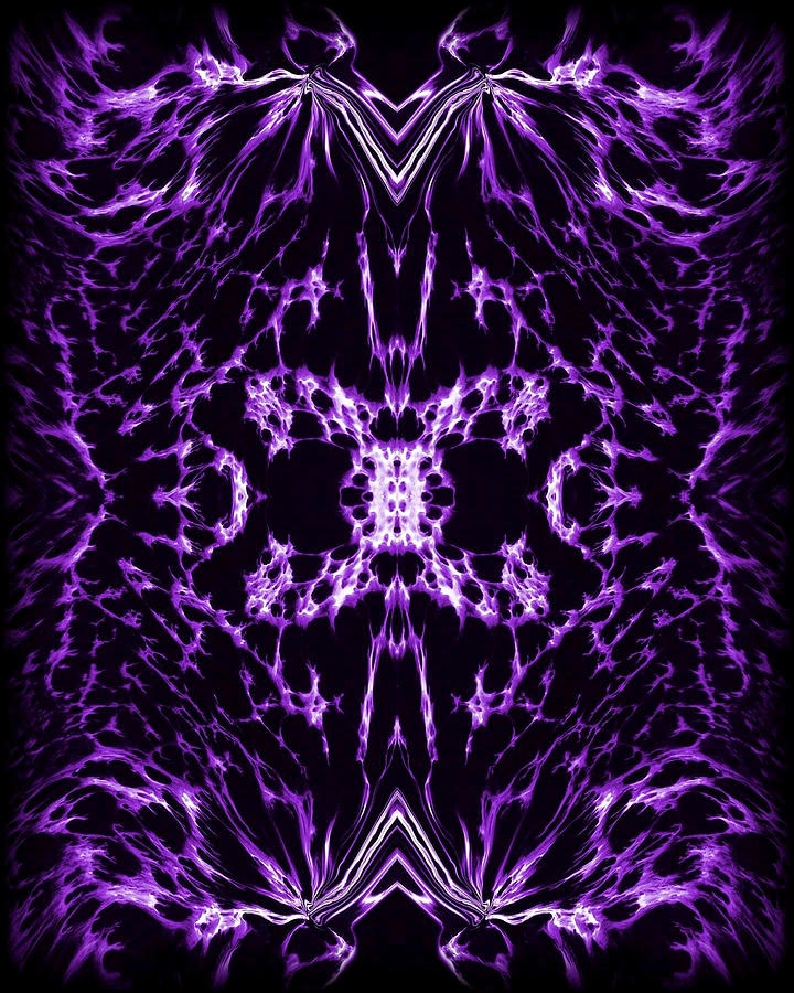 Purple Series 2 Painting  - Purple Series 2 Fine Art Print
