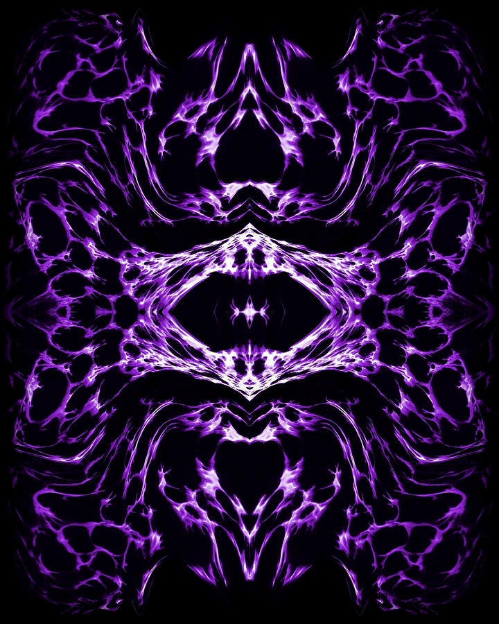 Original Painting - Purple Series 3 by J D Owen