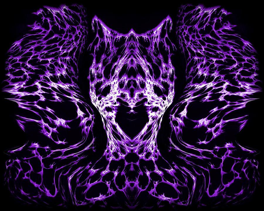 Original Painting - Purple Series 4 by J D Owen