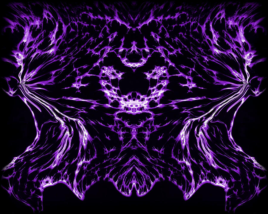 Purple Series 8 Painting  - Purple Series 8 Fine Art Print