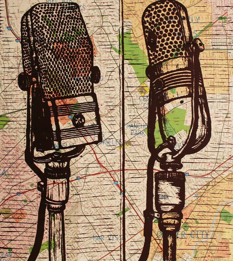 2 Rca Microphones Drawing