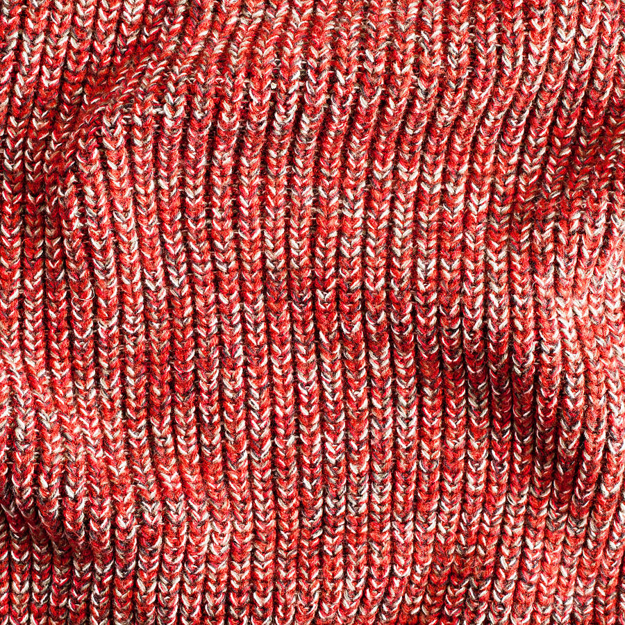 Red Wool Photograph