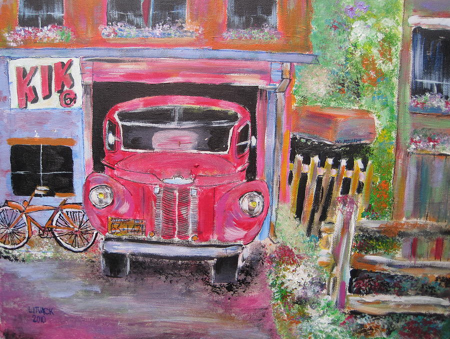 International Harvester Truck Painting - Relic In Lachine by Michael Litvack