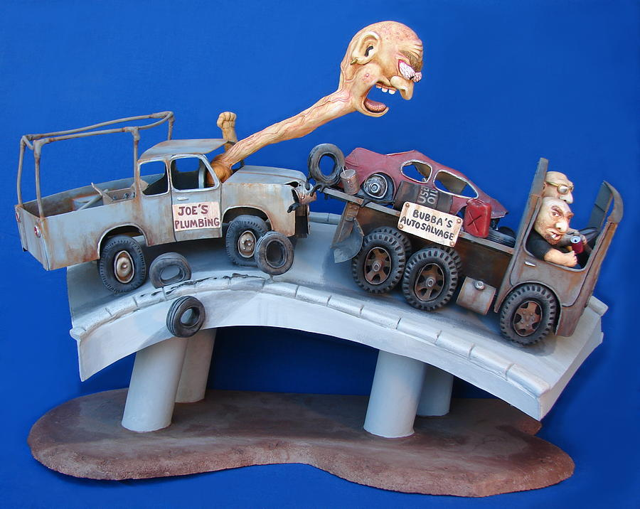 Road Rage Sculpture  - Road Rage Fine Art Print