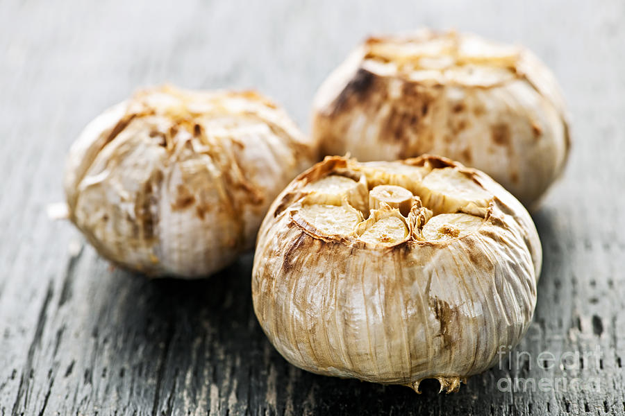Roasted Garlic Bulbs Photograph