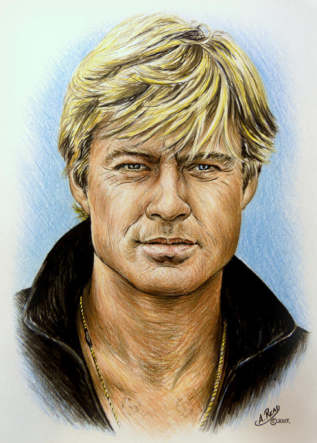 Robert Redford Drawing  - Robert Redford Fine Art Print