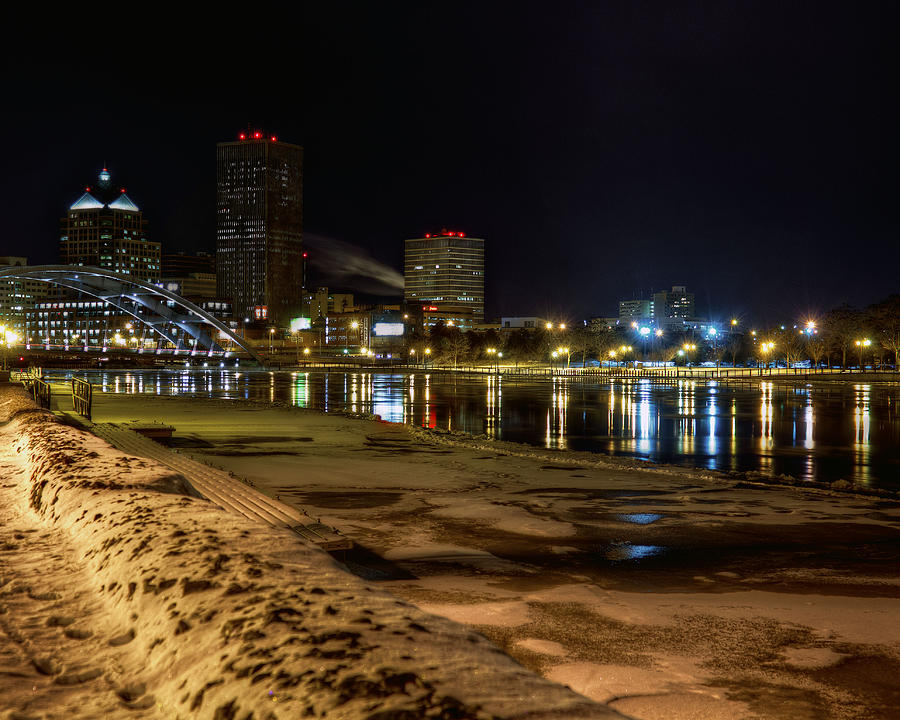 Rochester At Night Photograph