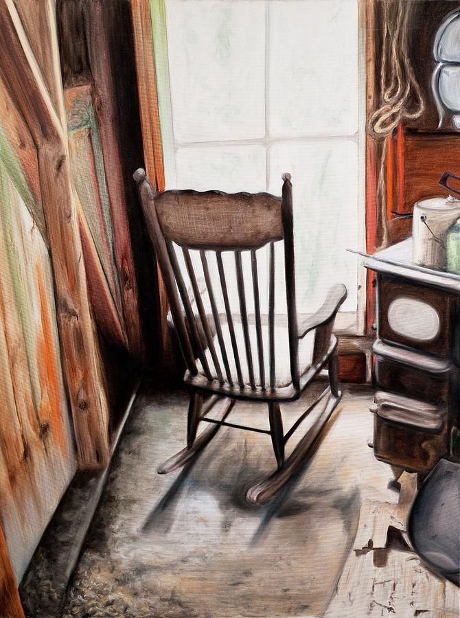 Rocking Chair Painting  - Rocking Chair Fine Art Print