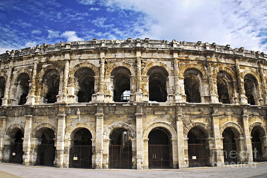 Roman Arena In Nimes France Photograph  - Roman Arena In Nimes France Fine Art Print