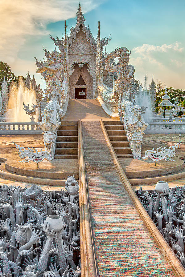 Abstract Photograph - Rong Khun Temple by Adrian Evans