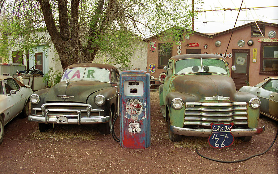 Route 66 - Snow Cap Drive-in Photograph