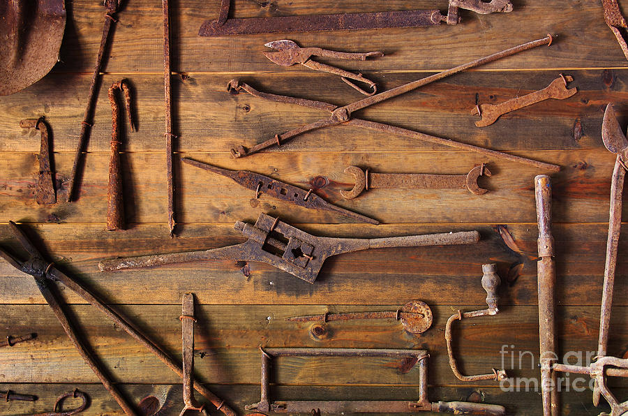 Rusty Tools Photograph