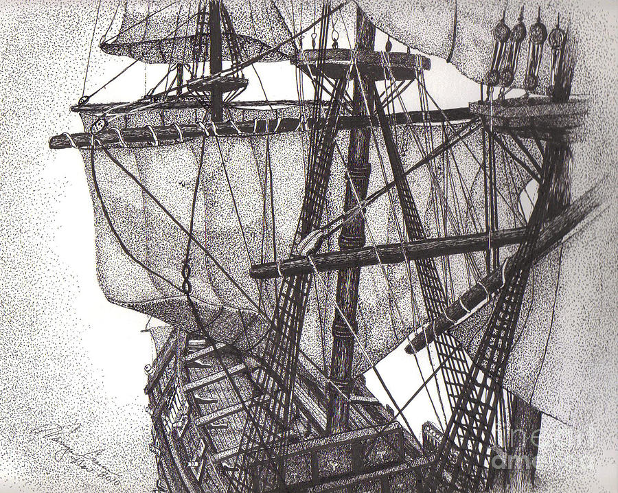 Sails And Rigging Drawing