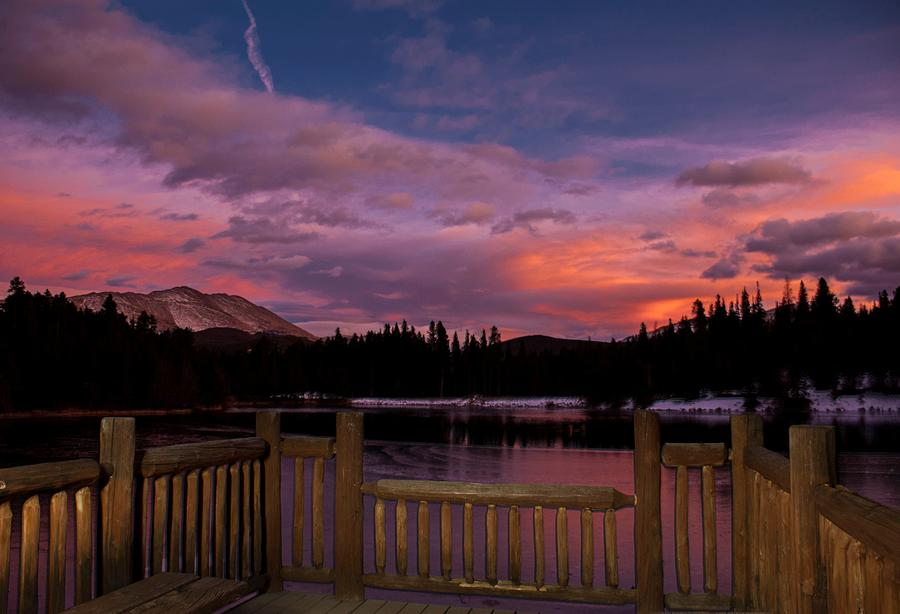 Sawmill Lake Sunset Photograph