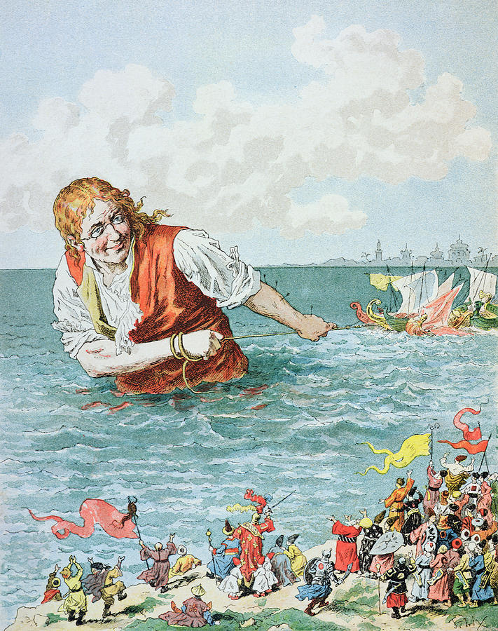 Scene From Gullivers Travels Painting