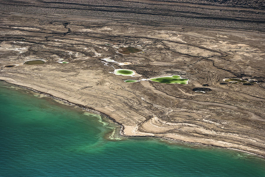 Sinkholes In Northern Dead Sea Area Photograph