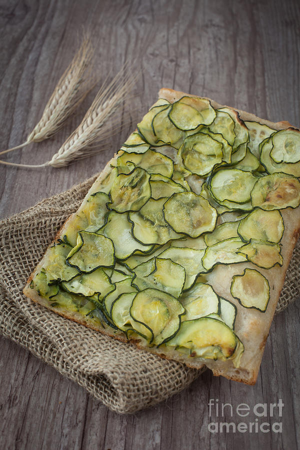 Sliced Pizza With Zucchini Photograph