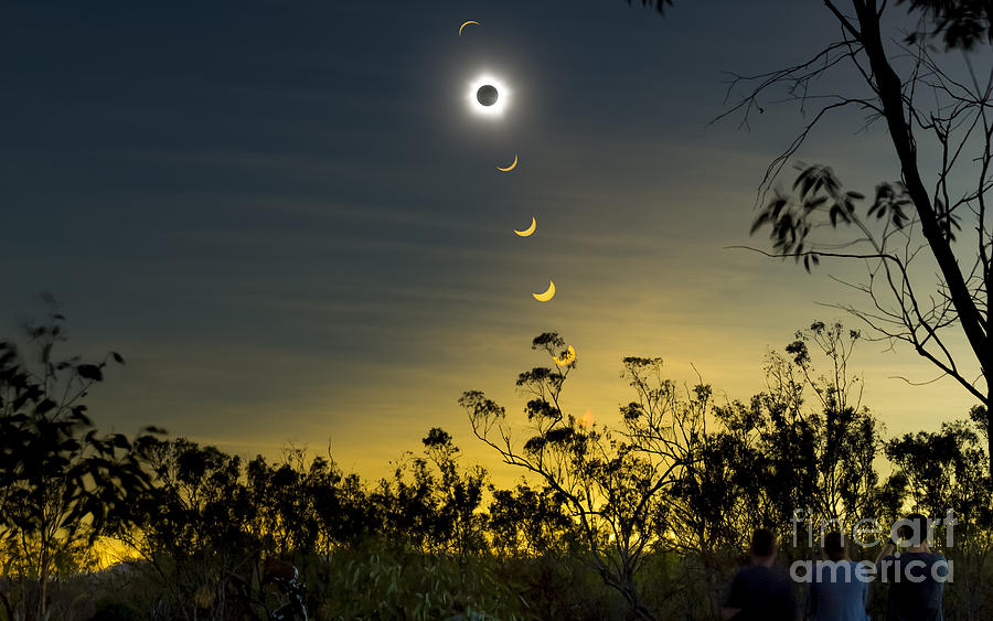 Solar Eclipse Composite, Queensland Photograph