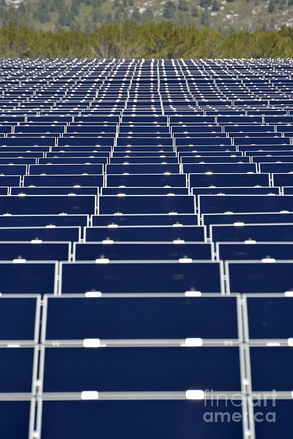 Environmental Conservation Photograph - Solar Panels In Farm by Sami Sarkis