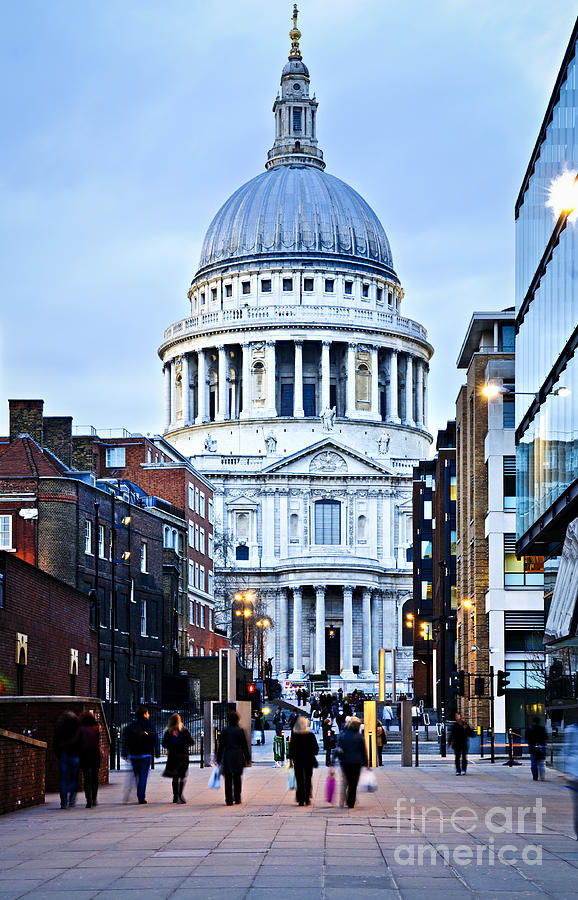 St. Pauls Cathedral London At Dusk Photograph  - St. Pauls Cathedral London At Dusk Fine Art Print