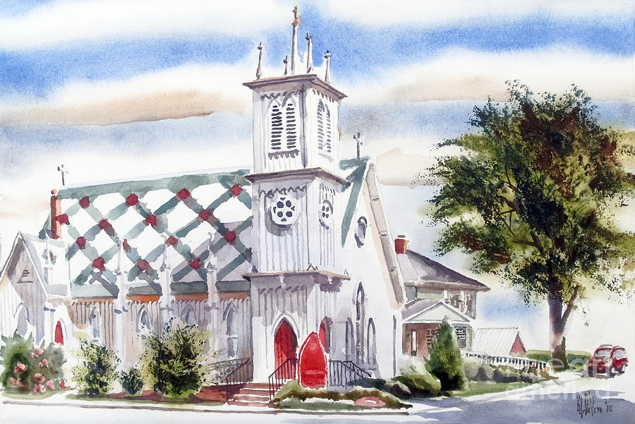 St Pauls Episcopal Church  Painting