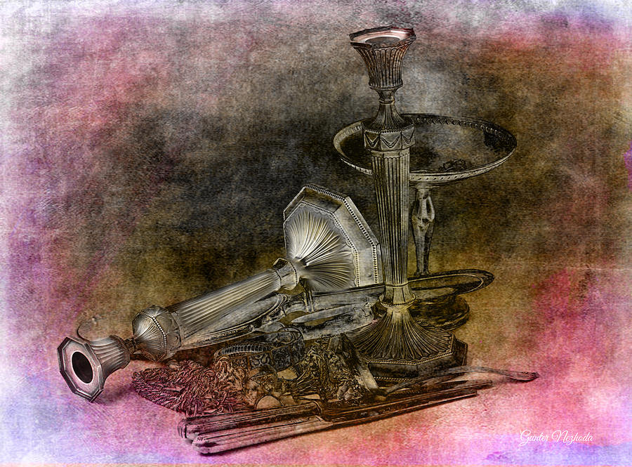 Accessories Photograph - Sterling Silver Scrap by Gunter Nezhoda