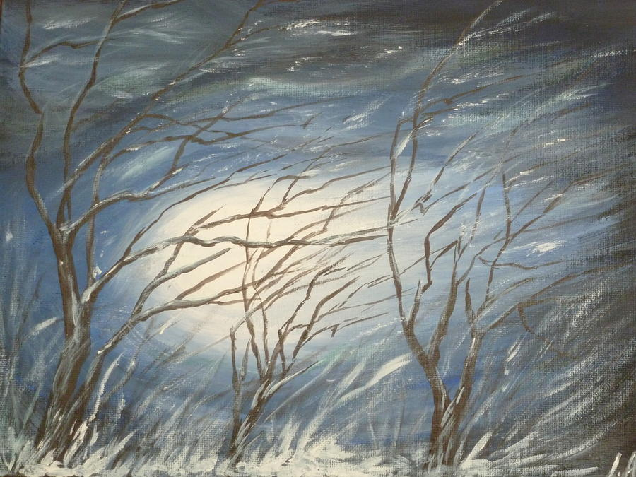Winter Painting - Storm  by Irina Astley