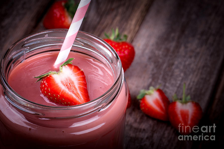 Strawberry Smoothie Photograph