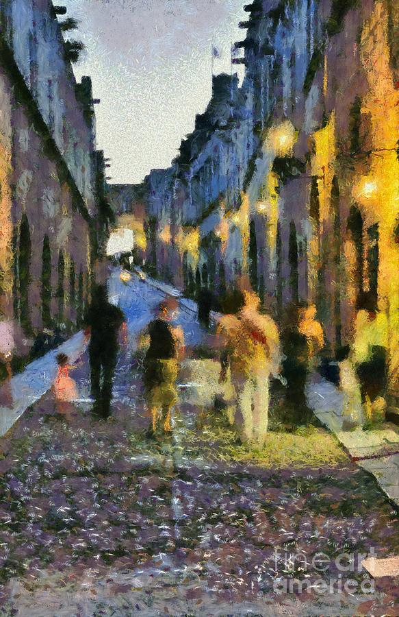 Street Of Knights Painting