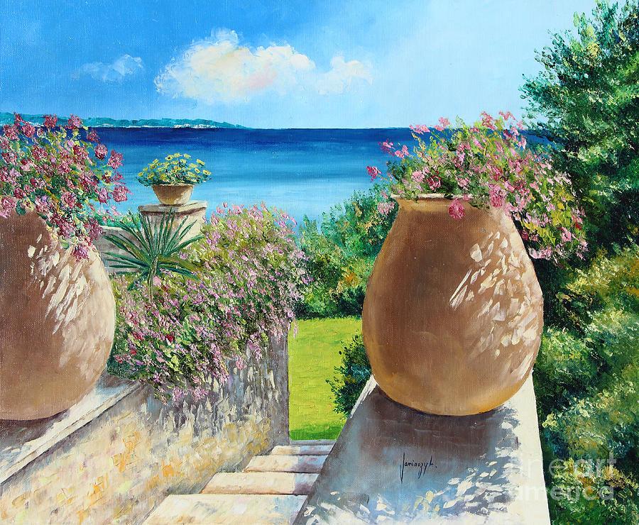France Digital Art - Sunny Terrace by Jean-Marc Janiaczyk