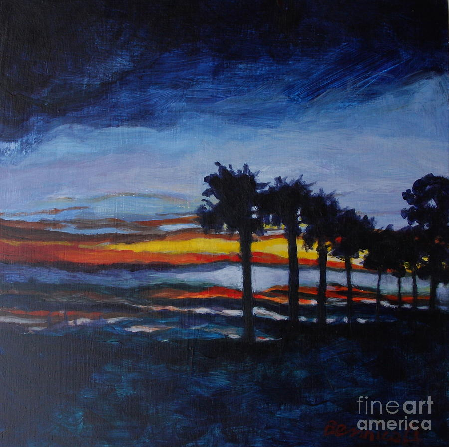 Sunset In St. Andrews Painting  - Sunset In St. Andrews Fine Art Print