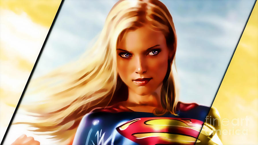 Supergirl Art Mixed Media - Supergirl by Marvin Blaine