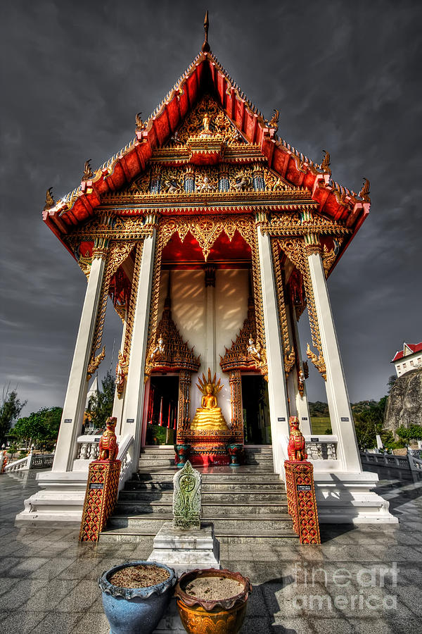 Thai Temple Photograph  - Thai Temple Fine Art Print