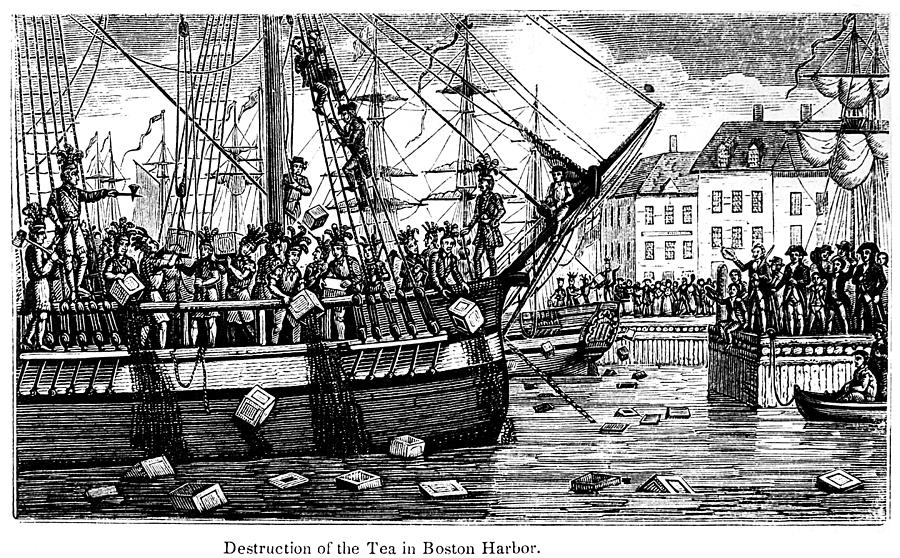 The Boston Tea Party, 1773 is a photograph by Granger which was ...